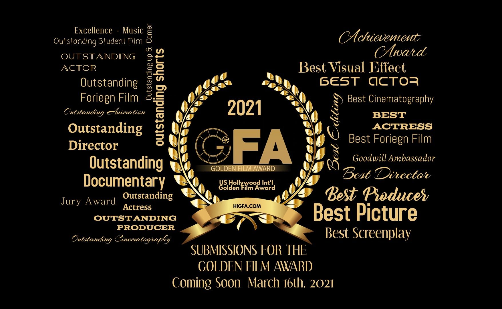 2021 Golden Film Award Start Accepting Submissions In Coming March...